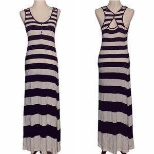 Deletta Anthro A-Different-Stripe Maxi Dress - S